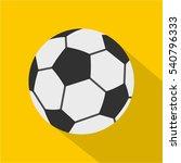 soccer ball icon. flat... | Shutterstock .eps vector #540796333