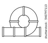 slider water tube icon. outline ... | Shutterstock .eps vector #540797113
