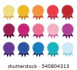 circle solid color flag badge... | Shutterstock .eps vector #540804313