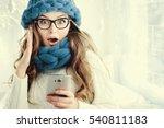 indoor close up portrait of... | Shutterstock . vector #540811183