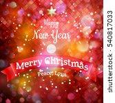 christmas landscape poster. eps ... | Shutterstock .eps vector #540817033