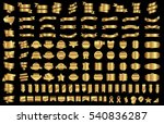 ribbon banner label gold vector ... | Shutterstock .eps vector #540836287