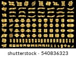 ribbon banner label gold vector ... | Shutterstock .eps vector #540836323