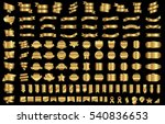 label ribbon banner gold vector ... | Shutterstock .eps vector #540836653