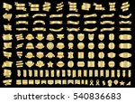 label ribbon banner gold vector ... | Shutterstock .eps vector #540836683