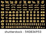 banner ribbon label gold vector ... | Shutterstock .eps vector #540836953