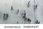 people walk on the pedestrian... | Shutterstock . vector #540839347