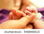 selective focus on sick newborn ... | Shutterstock . vector #540840013