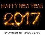 happy new year 2017 text... | Shutterstock . vector #540861793