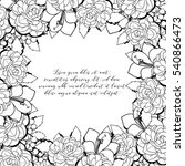 romantic invitation. wedding ... | Shutterstock .eps vector #540866473
