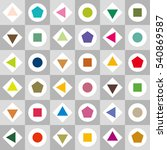color geometrics and gray scale ... | Shutterstock .eps vector #540869587