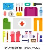 disaster preparedness object...   Shutterstock .eps vector #540879223