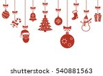 christmas hanging ornaments... | Shutterstock .eps vector #540881563