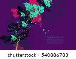 vector plum blossom.traditional ... | Shutterstock .eps vector #540886783