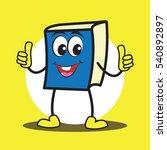 cute cartoon book character set | Shutterstock .eps vector #540892897