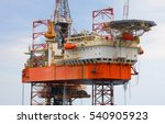 offshore oil rig drilling... | Shutterstock . vector #540905923