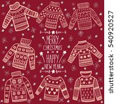 cute christmas sweaters vector... | Shutterstock .eps vector #540920527