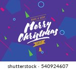 merry christmas text design.... | Shutterstock .eps vector #540924607