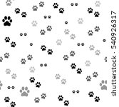 paw print seamless. traces of... | Shutterstock . vector #540926317