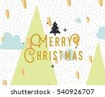 merry christmas text design....   Shutterstock .eps vector #540926707