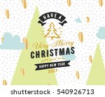 merry christmas and happy new... | Shutterstock .eps vector #540926713