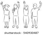 children drinking milk   Shutterstock . vector #540930487