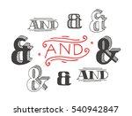 set of decoration ampersands...   Shutterstock .eps vector #540942847