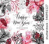 merry christmas greeting card... | Shutterstock .eps vector #540951127