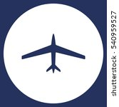 airplane icon vector flat... | Shutterstock .eps vector #540959527