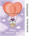 greeting card happy valentine's ... | Shutterstock .eps vector #540959653