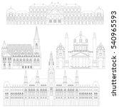austrian city sights in vienna. ... | Shutterstock .eps vector #540965593