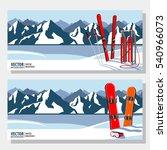 winter sport objects. red... | Shutterstock .eps vector #540966073