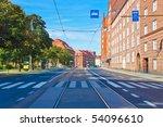 city street in helsinki  finland | Shutterstock . vector #54096610