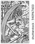 Gargoyle. Gothic Monster On Th...