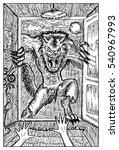 werewolf or wolfman against... | Shutterstock .eps vector #540967993