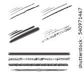 set pencil brushes. pencil... | Shutterstock .eps vector #540971467