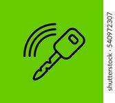 car key with signal icon flat...