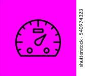 speedometer icon flat disign