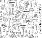 vector seamless pattern with... | Shutterstock .eps vector #540980947