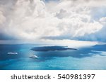 stormy clouds over the sea.... | Shutterstock . vector #540981397