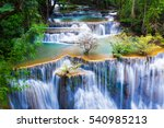 huay mae kha min waterfalls in... | Shutterstock . vector #540985213