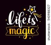 magical handwritten vector... | Shutterstock .eps vector #540988327