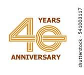 40 years anniversary symbol... | Shutterstock .eps vector #541003117