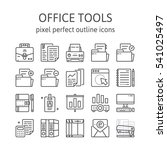 office tools   outline icons  ...