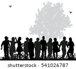 a large group of people dancing ... | Shutterstock .eps vector #541026787