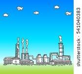 panorama power  heat electric... | Shutterstock .eps vector #541040383