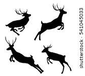 deer silhouette   vector... | Shutterstock .eps vector #541045033