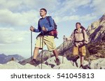 summer hiking in the mountains... | Shutterstock . vector #541045813
