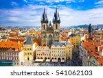pragua  czech republic  october ... | Shutterstock . vector #541062103