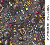 cartoon hand drawn musical... | Shutterstock .eps vector #541063807